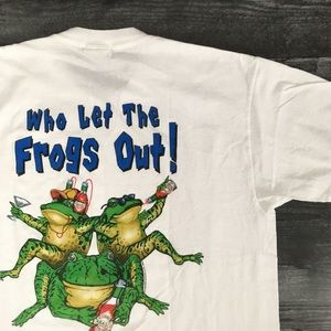 2003 Tabasco Who Let The Frogs Out Tee